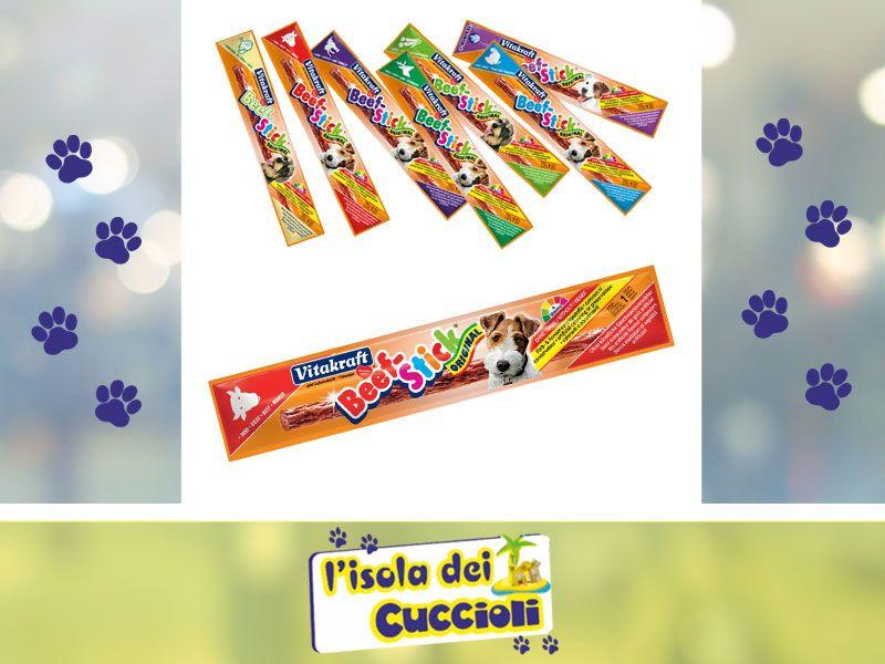 offerta beef stick cane gatto - occasione snack per cani e gatti - isola dei cuccioli
