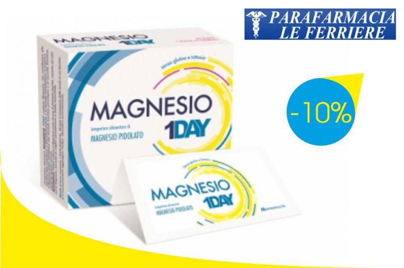 Offerta Magnesio 1 Day Buste Sconto 10% | Parafarmacia Le Ferriere Imperia