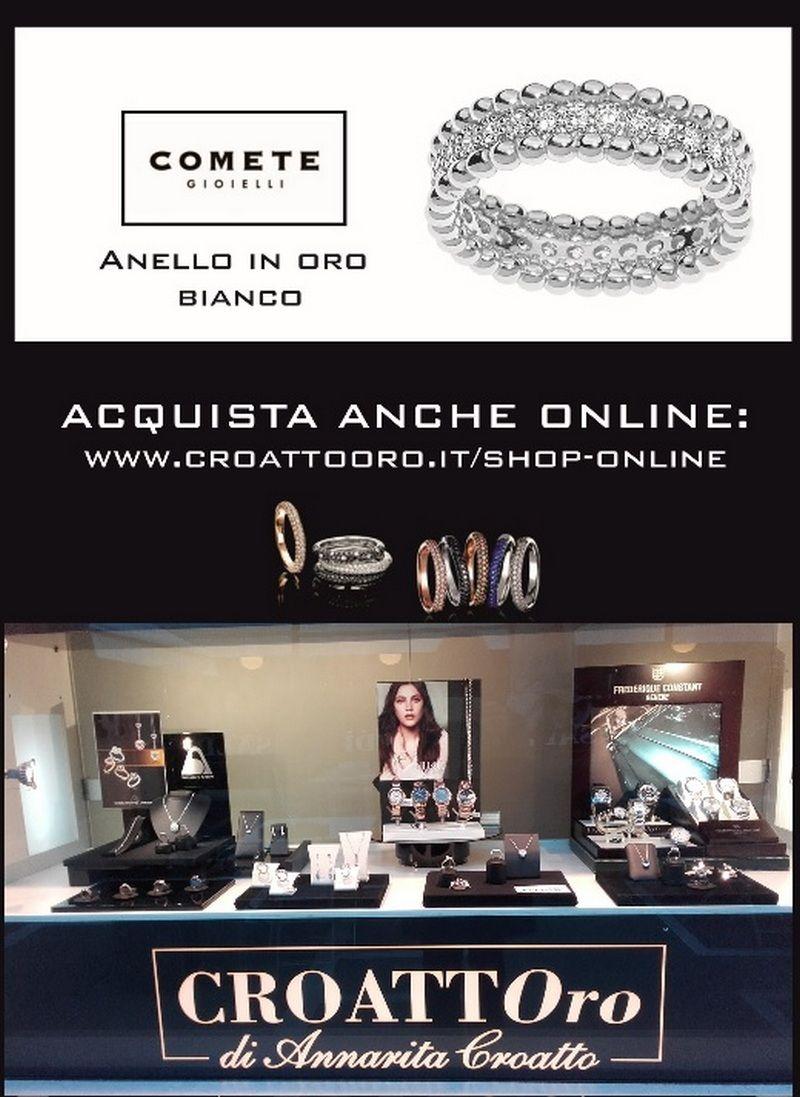 Offerta anello oro bianco Comete - Occasione anello Comete Udine - Offerta anello Comete UD
