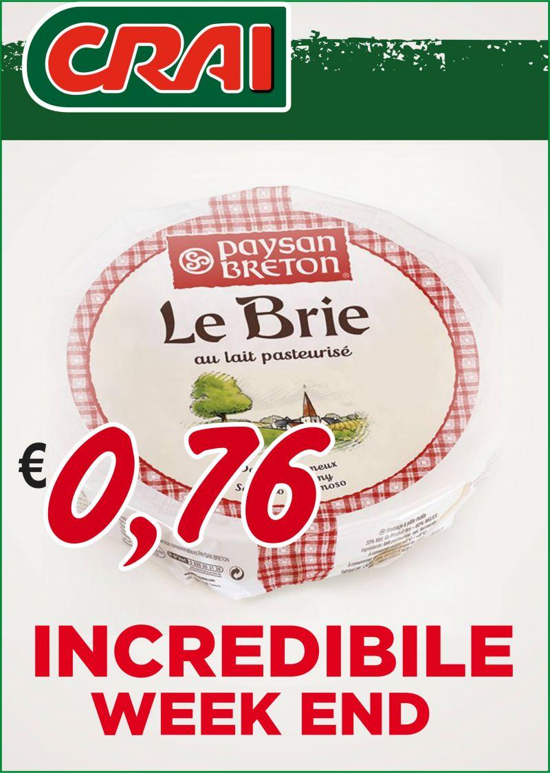 offerta formaggio brie - occasione formaggio francese brie crai
