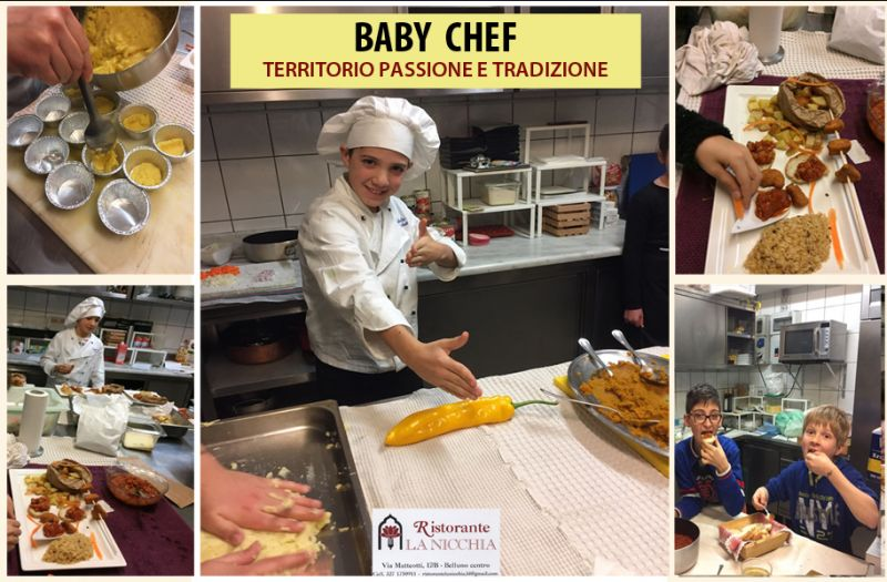 Offerta Baby chef Belluno - Promozione corso chef per bambini Belluno - Ristorante La Nicchia