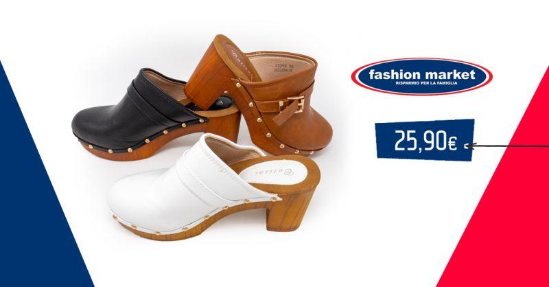 offerta Fashion Market Scarpe estive donna - occasione zoccoli calzature da donna sandalo