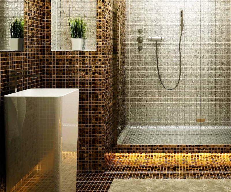 Bagno Legno E Mosaico : Offerta realizzazione decorazione pareti in mosaico sihappy