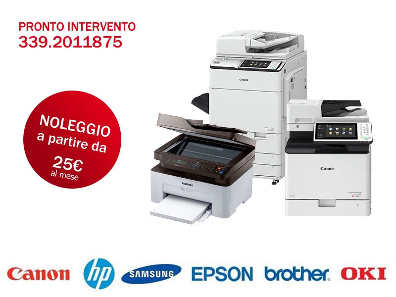 Offerta Vendita Noleggio Stampanti Multifunzione - servizio assistenza stampanti toner laser