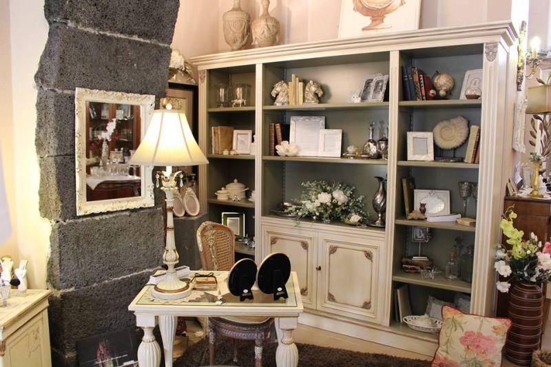 Libreria legno tulipier - promozione libreria avorio - casa antica arredamenti