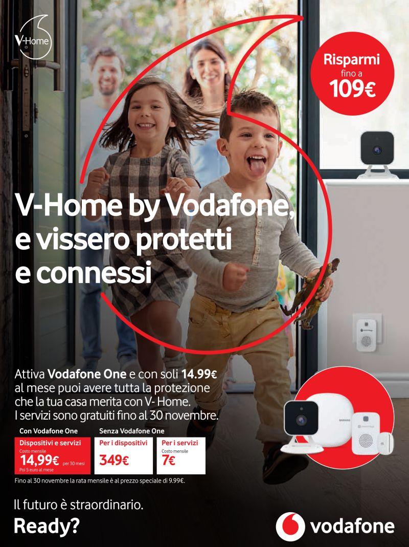 offerta vodafone one v-home - promozione dispositivi sicurezza casa vodafone