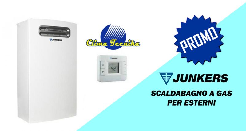 Clima Tecnika - offerta scaldabagno junkers hydrocompact  a gas per esterni 18 lt