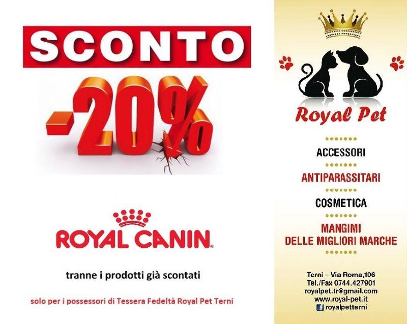 Promozione Offerta Mangimi Royal Canin Sconto del 20 %
