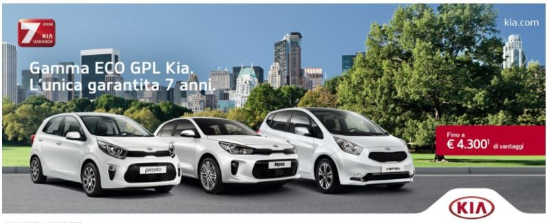 Offerta Vendita Auto Kia Gpl - Casalcar Concessionaria Ufficiale Kia