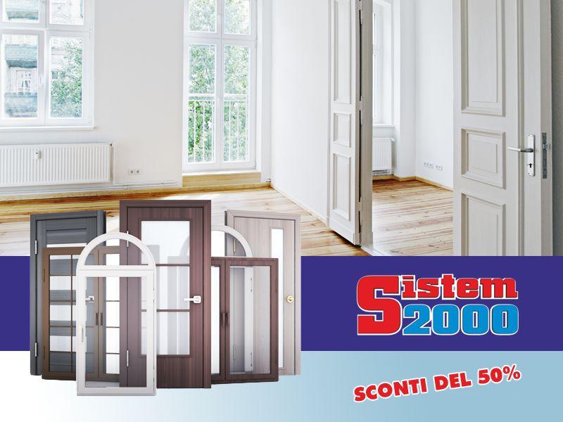 offerta vendita infissi falconara albanese - promozione rinnovo esposizione sistem 2000