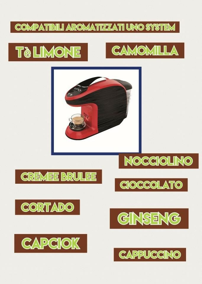 Caspule di caffè, aromatizzati e bevande calde