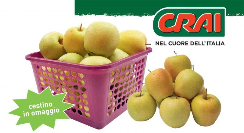 offerte mele golden a udine - promozione crai cestino di mele golden a udine