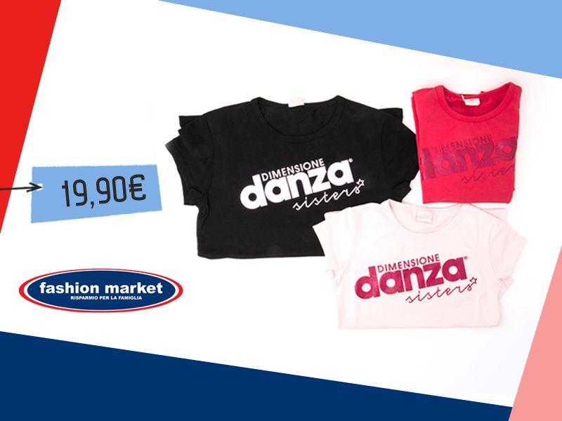 offerta Fashion Market abbigliamento sportivo - occasione T Shirt Donna dimensione danza