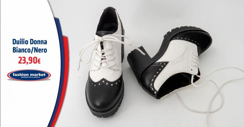 Offerta scarpa donna stile inglesina Roma - Occasione scarpe Duilio stringate da donna
