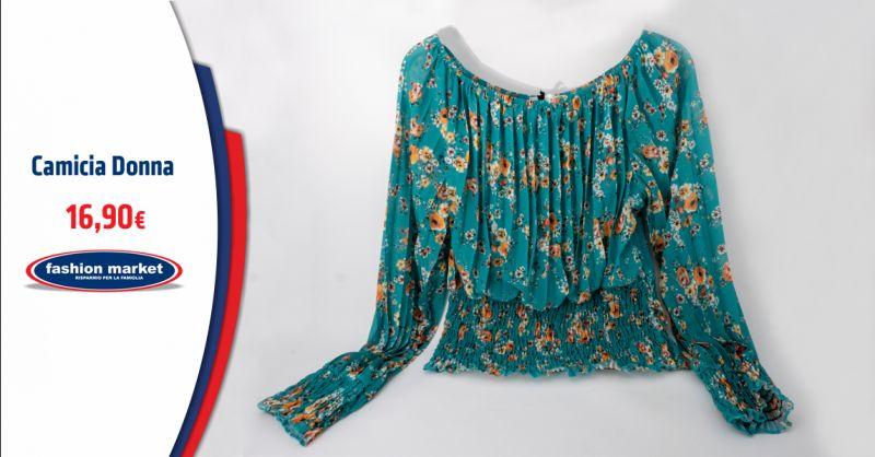 Fashion Market Offerta camicette floreali donna - Occasione Blusa stampa a fiori
