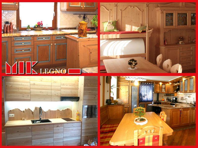 Offerta Vendita e Realizzazione Cucine Artigianali in legno Vallada Agordina Miklegno