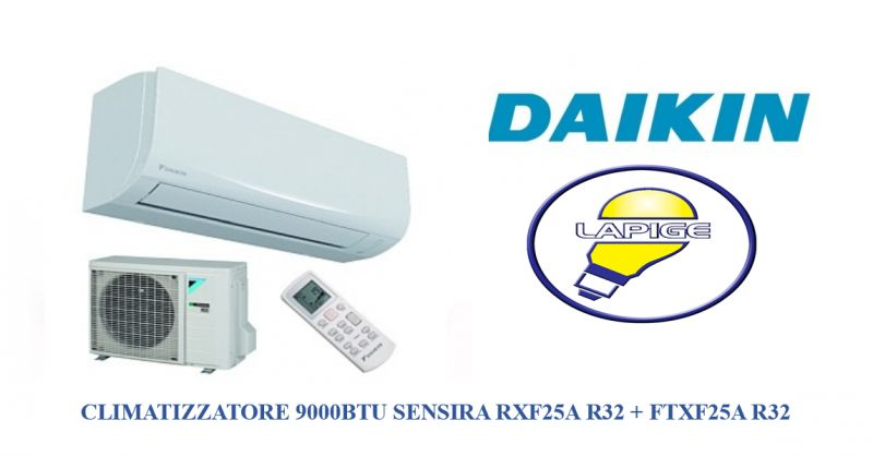 offerta CLIMATIZZATORE  DAIKIN sensira 9000- promozione CONDIZIONATORE RXF25A R32  lapige