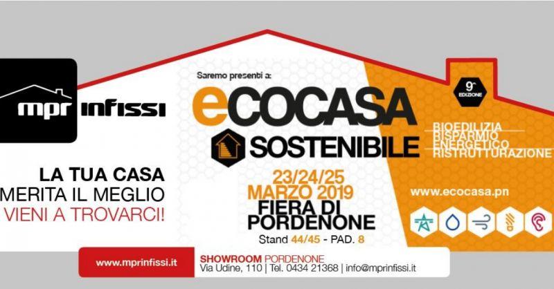 MPR Infissi occasione organizzazione evento per infissi -offerta partecipazione fiera Pordenone