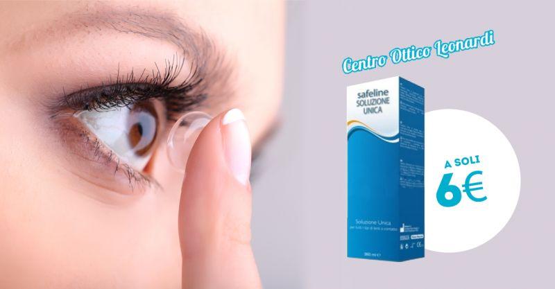 offerta soluzone unica lenti a contatto safeline - promozione liquido lenti a contatto safeline