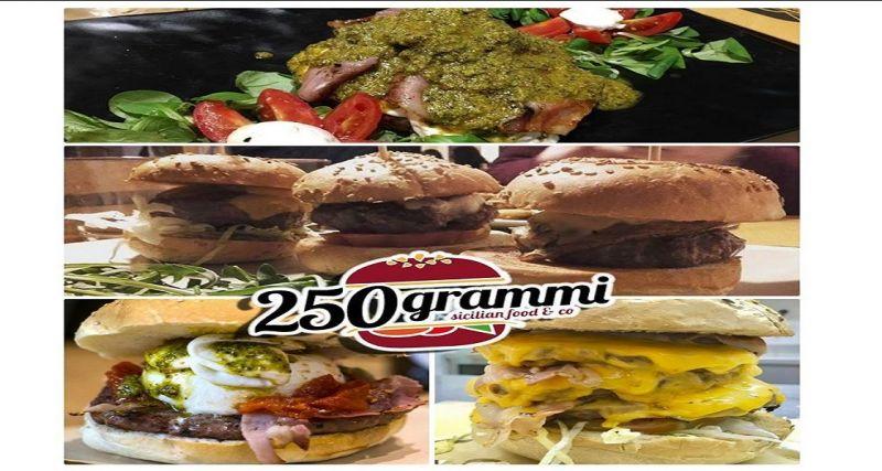 250 Grammi hamburgheria offerta hamburger di carne e vegetariano - occasione menù catania