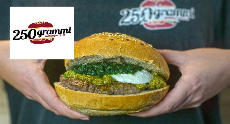 250 GRAMMI offerta hamburger e bevanda - occasione panini catania