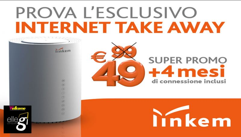 promozione linkem internet take away bari - offerta modem linkem connessione inclusa rutigliano