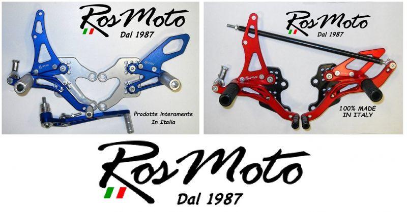 ROSMOTO - Offerta produzione vendita online pedane regolabili arretrate Rearsets made in Italy
