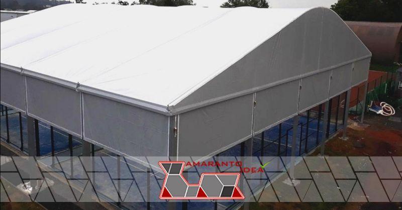 AMARANTO IDEA offerta copertura campi da padel - occasione installazione di coperture padel