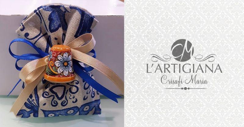 offerta bomboniere ceramica artigianali palermo - occasione bomboniere a tema siciliano palermo