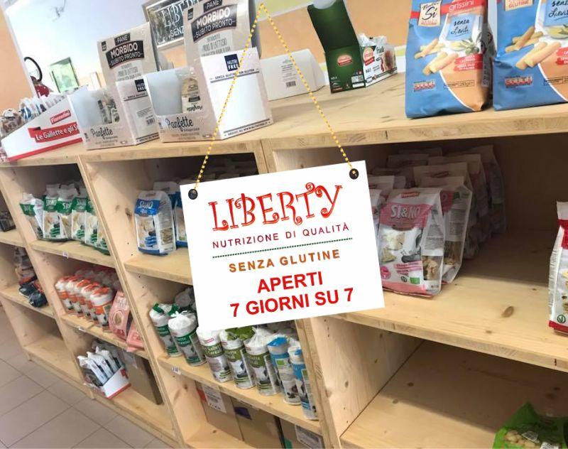 LIBERTY SENZA GLUTINE offerta negozio per celiaci aperto domenica - promo supermercato celiaci