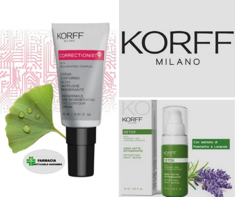 promozione siero e contorno occhi Korff - Farmacia Avataneo selargius
